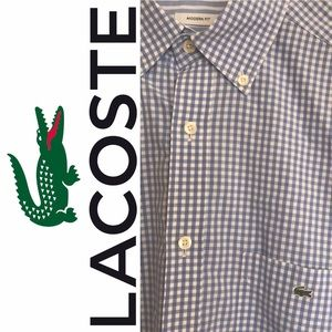 🐊Lacoste Boys Gingham Shirt